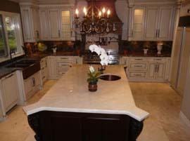 Alaska White Countertop with Double Ogee Edge Profile
